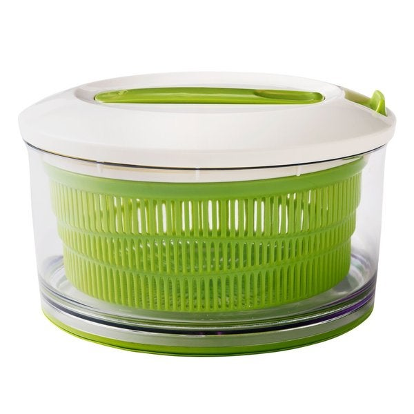 Chef'n Spin Cycle Green Plastic Large Salad Spinner with No Slip Silicone Base