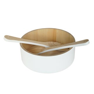 Peterson Housewares Ash Wood Salad Bowl Set