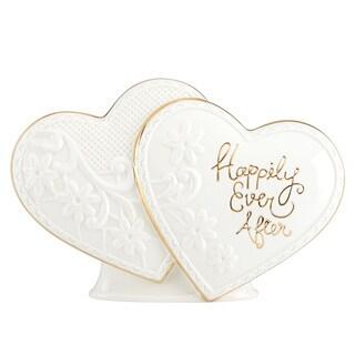 Lenox Ever After White/Gold Porcelain Cake Topper