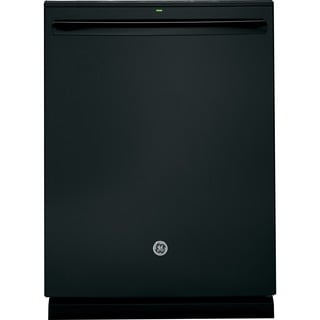 GE White/Black Plastic/Stainless Steel Fully Integrated Dishwasher