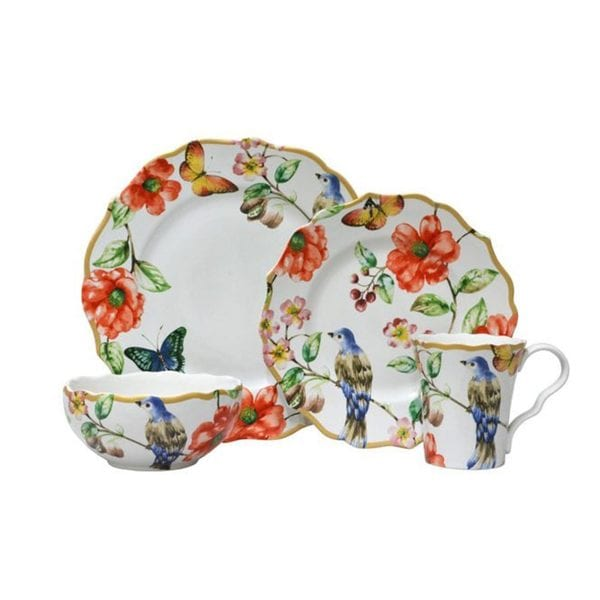 222 Fifth Ambri Multicolor Porcelain Dinnerware (Case of 16)
