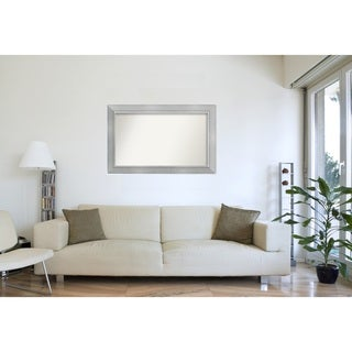 Wall Mirror Choose Your Custom Size - Extra Large, Romano Silver Wood