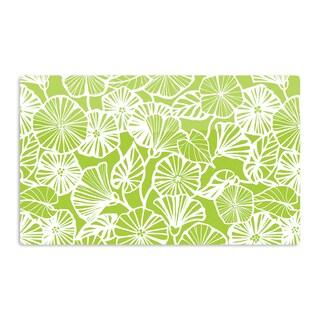 KESS InHouse Jacqueline Milton 'Vine Shadow - Lime' Green Floral Artistic Aluminum Magnet