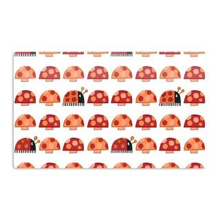 KESS InHouse Jane Smith 'Garden Ladybugs' Orange Red Artistic Aluminum Magnet
