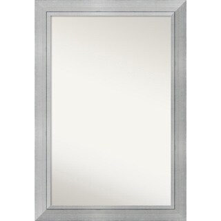 Wall Mirror Choose Your Custom Size - Oversized, Romano Silver Wood