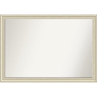 Wall Mirror Choose Your Custom Size - Extra Large, Country Whitewash Wood