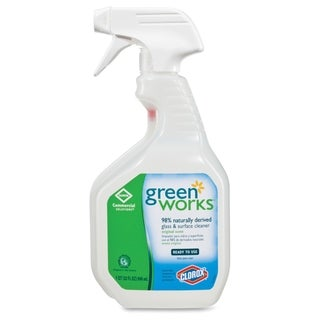 Green Works Natural Glass/Surface Cleaner - Clear (1/Carton)