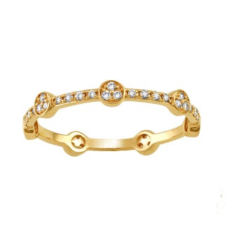 Beverly Hills Charm 10k Yellow Gold 1/4ct TDW Diamond Stackable Eternity Band Ring (H-I, I2-I3)