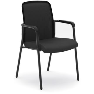 Basyx by HON HVL518 Mesh Back Stacking Chair - Black