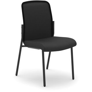 Basyx by HON HVL508 Mesh Back Stacking Chair - Black