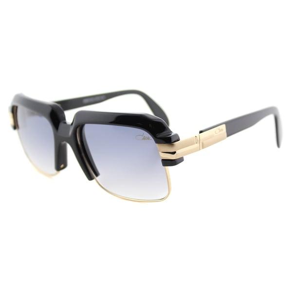 Cazal Cazal 670 001 Legends Shiny Black Gold Grey Gradient Lens Square Sunglasses