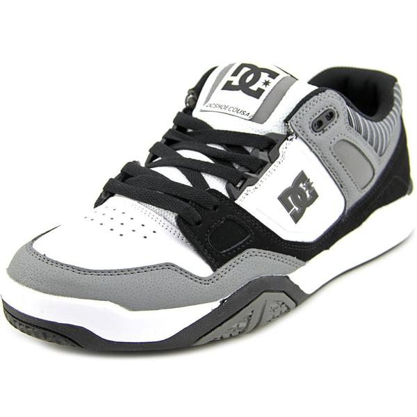 DC Shoes Men's Stag 2 Black Leather Athletic Shoes