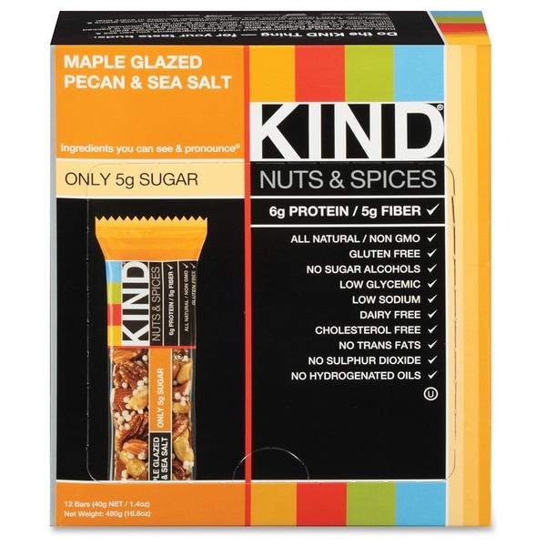 KIND Maple Glazed Pecan/Sea Salt Nut/Spice Bars(12/Box)