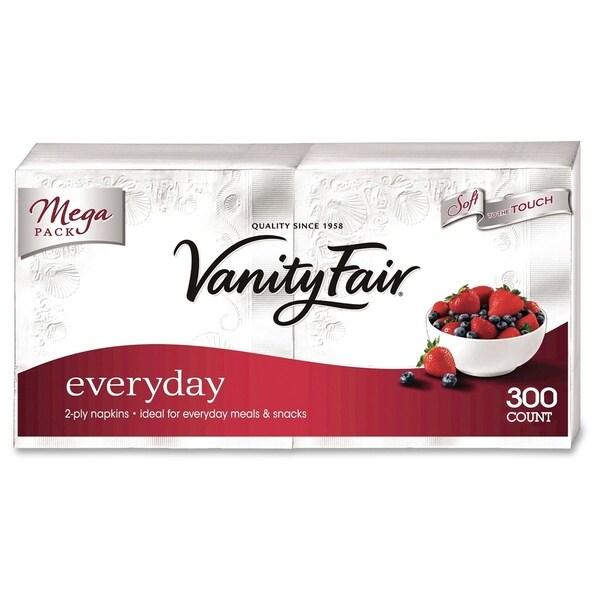 Vanity Fair Everyday Napkins - White (300/Pack)