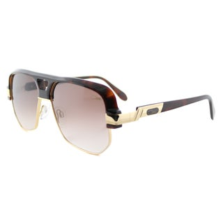 Cazal Cazal 672 080 Legends Amber Gold Brown Gradient Lens Square Sunglasses