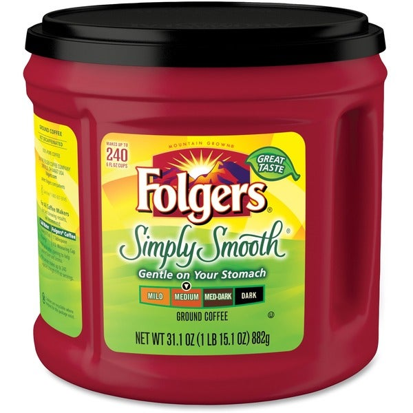 Folgers Simply Smooth Ground Coffee Ground - Red