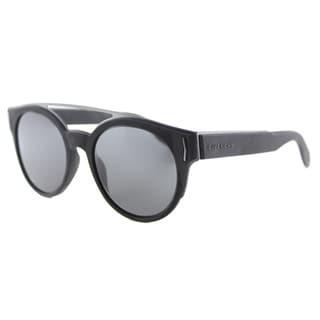 Givenchy GV 7017 VET Black Grey Lens Round Sunglasses