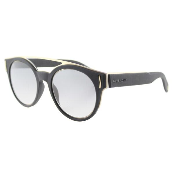 Givenchy GV 7017 VEX Black Grey Gradient Lens Round Sunglasses