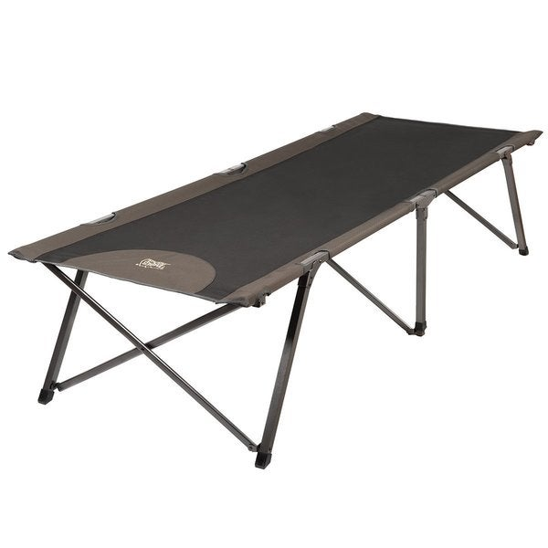 TimberRidge Deluxe Brown Polyester XL Camp Cot with Carry Bag