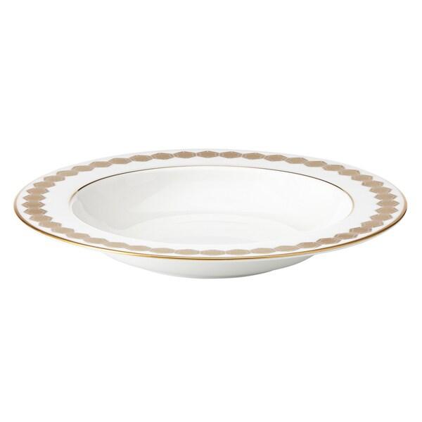 Lenox Prismatic Gold Bone China Pasta/Rim Soup Bowl