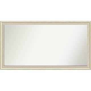 Wall Mirror Choose Your Custom Size - Oversized, Country White wash Wood