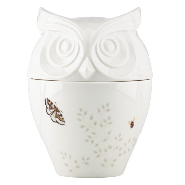 Lenox Butterfly Meadow Figural Owl Cookie Jar 19462021