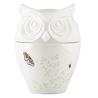Lenox Butterfly Meadow Figural Owl Cookie Jar