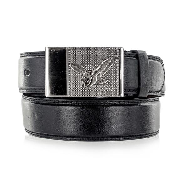 Faddism Unisex Night Hawk Black Genuine Leather Belt