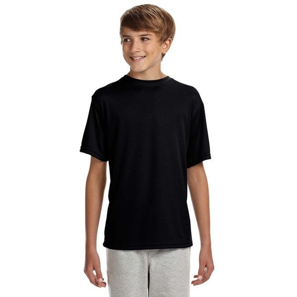 Youth Black Polyester Cooling Performance T-shirt