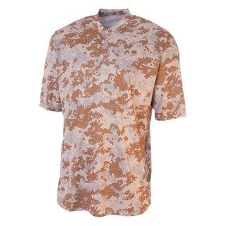 Youth Henley Sand Camouflage Two-Button Polyester T-shirt