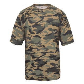 Youth Sand Polyester Camoflage T-shirt