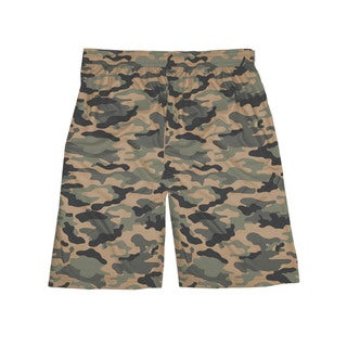 Badger Boys' Sand Camouflage Polyester 7-inch Sublimated Short