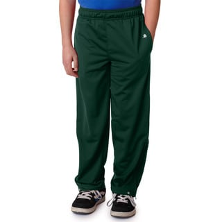 Brush Boys' Green Polyester Tricot Pants