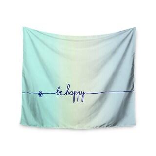 Kess InHouse Monika Strigel 'Be Happy Aqua' 51x60-inch Wall Tapestry
