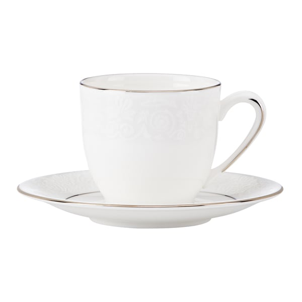 Lenox Artemis White/Goldtone China Espresso Cup and Saucer 19463135