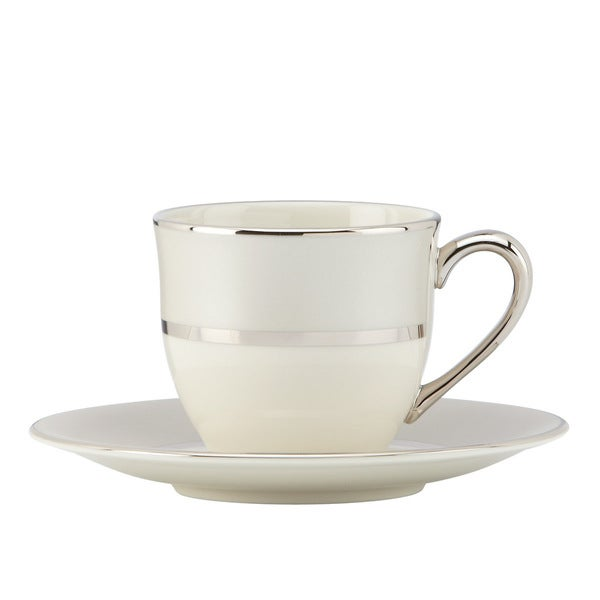 Lenox Ivory Frost Demitasse Cup and Saucer