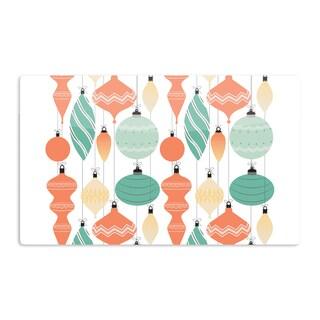 KESS InHouse KESS Original 'Mixed Ornaments Orange' Teal Artistic Aluminum Magnet