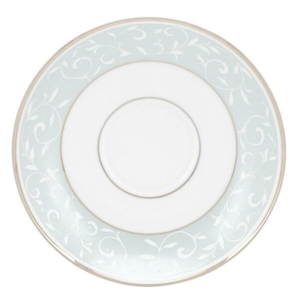 Lenox Opal Innocence Blue/White China Saucer