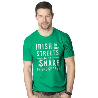 Men's Irish in the Streets Snake in the Sheets Funny Green T-shirt