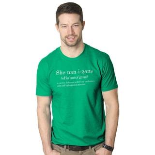 Men's Shenanigans Definition Funny St. Patrick's Day Green T-shirt
