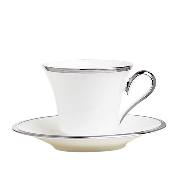 Lenox Solitaire White Cup And Saucer Set