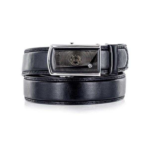 Faddism Unisex The Boss Black Genuine Leather Belt