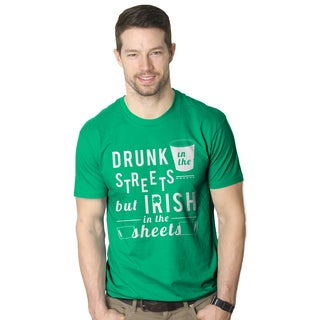 Men's Drunk in the Streets Irish in the Sheets St. Patrick's Day Green T-shirt