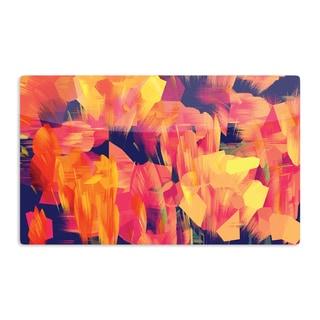 KESS InHouse Kathryn Pledger 'Geo Flower' Artistic Aluminum Magnet
