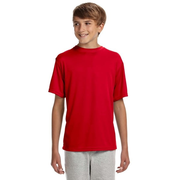 Youth Scarlet Polyester Cooling Performance T-shirt