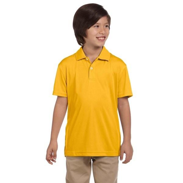 Boys' Gold Polyester Double Mesh Sport T-shirt