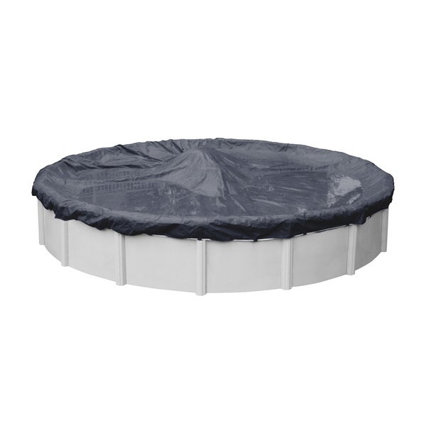 Heavy-Duty 8-Year Blue Winter Cover for Round Above-ground Swimming Pools