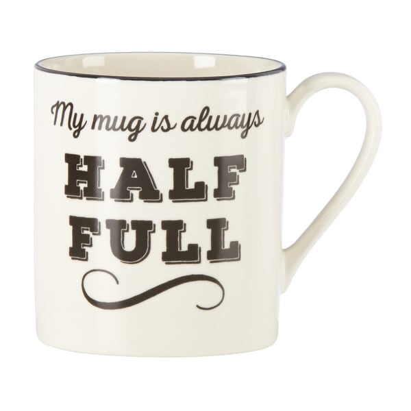 "Lenox Around the Table ""Always Half Full"" Mug"