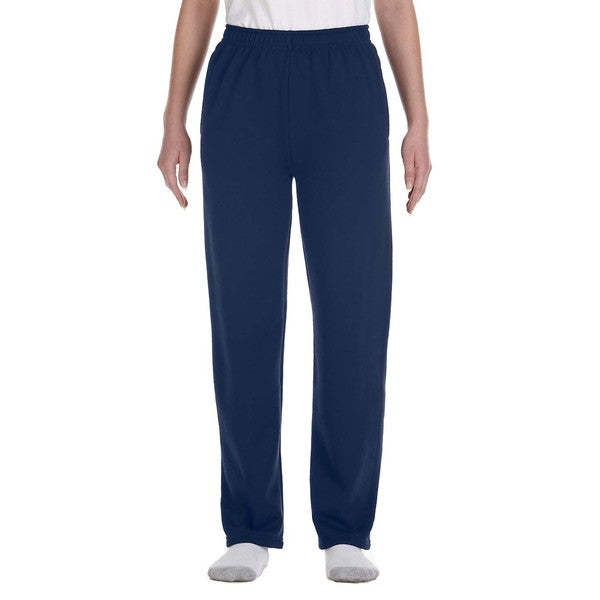 Nublend Youth Open-Bottom J Navy Sweatpants With Pockets