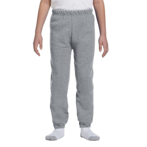 Nublend Boys' Grey Polyester Athletic Heather Sweatpants
